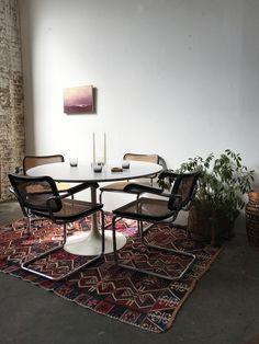 Vintage Marcel Breuer Cesca arm chairs —