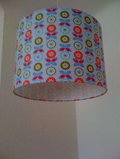 Lampenschirme -  Lampenschirm 34cm -Blümchen - ein Designerstück von XBergLampenschirme bei DaWanda