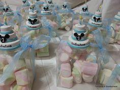 mini cake complete di scatolina con marshmallow