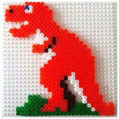 T-Rex dinosaur hama beads by elenailyina78