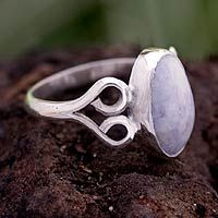 Jade cocktail ring, 'Two Hearts in Lilac' from @NOVICA, They help #artisans succeed worldwide.