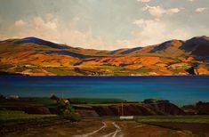 Looking Across Okanagan Lake, by Min Ma Ask our Century 21 Realtors about our amazing lakefront and waterfront property for sale. Landscape Art, Landscape Paintings, Oil Paintings, Waterfront Property For Sale, Born In China, Cool Art, Awesome Art, Art For Art Sake, Acrylic Art