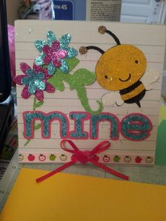 Bee mine Cricut critters valentines day card