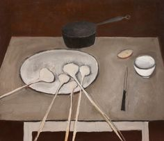 William Scott | Still life with garlic 1947 - love painting that depicts everyday life