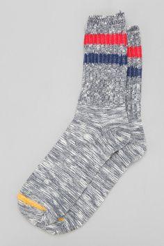 Stripe Marled Camp Sock