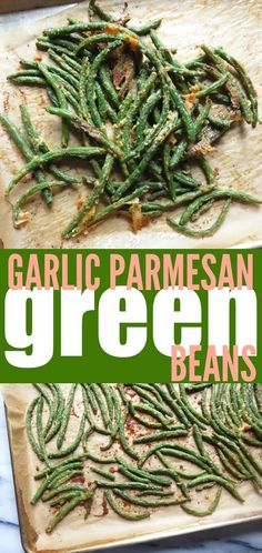 These Garlic Parmesan Green Beans are a really delicious low carb and gluten free appetizer or side dish that EVERYONE will love!!