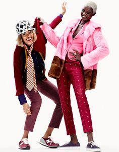 Elle Francia Noviembre 2012 - Ataui Deng y Marihenny Rivera por Simon Burstall.