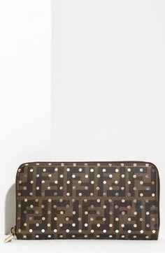 Fendi Polka Dot Zip Around Wallet   Nordstrom - StyleSays