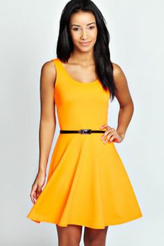 Maya Neon Skater Dress at boohoo.com
