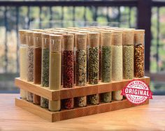 VU Test Tube Spice Rack by TheTubularSpiceCo on Etsy