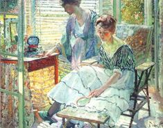 Painting by American Impressionist Artist Richard Edward Miller
