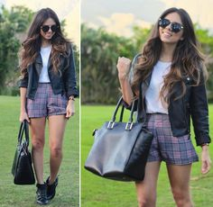 Get this look: http://lb.nu/look/5778929  More looks by Daniela Ramirez: http://lb.nu/nanysklozet  Items in this look:  Iconica Shorts, Pink And Pepper Boots