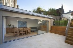 Make Your Sun Room Plant Friendly Helen Lucas Architects Edinburgh Project Garden Room Architect with ucwords] House Extension Design, Extension Designs, Extension Ideas, Sunroom Decorating, Building Contractors, Summer Plants, Wooden Stairs, Green Theme, Backyard