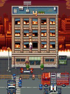 Firemen Rush In-Game Screenshot @ PixelJoint.com
