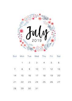 Free 2019 printable calendar - The Cactus Creative July Calendar, Calendar 2019 Printable, Make A Calendar, Print Calendar, Kids Calendar, Calendar Design, Monthly Calendars, Graphic Design Magazine, Magazine Design