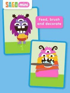 FREE for a limited time! Sago Mini Monsters - an interactive play app with friendly monsters.