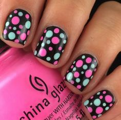 Black w polka dots