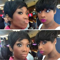 Reppin' Cute Styles @4everbrandy and iamjhud - http://community.blackhairinformation.com/hairstyle-gallery/celebrities/reppin-cute-styles-4everbrandy-iamjhud/