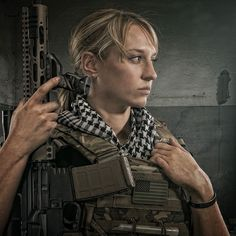 """shiny-kit-syndrome: """" Gun girl in plate carrier """" Usmc, Marines, Plate Carrier, First Contact, 2 In, Battle, Guns, Portrait, Photography"""