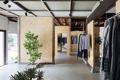 located in saitama city, japan, this retail space was converted by studio201architects from a single-storey home dating back to the 1940s.