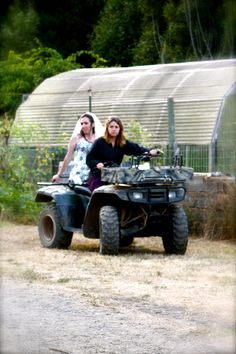 Kayla... all I can think about is you and Nick on that fourwheeler and Alexia wrecking it, lol!