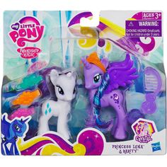 My Little Pony Princess Luna & Rarity Figures x 2 for cat and piper