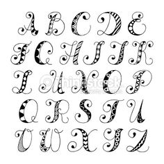 handwritten doodle alphabets - Google Search
