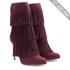 Paul Andrew Fringed Suede Booties