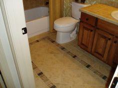 Bathroom tile by Floor Craft in Colorado Springs, CO. (719) 633-7724 www.floorcraft.us  www.facebook.com/FloorCraftLLC/ Laundry In Bathroom, Beautiful Bathrooms, Colorado Springs, Floors, Tile Floor, Facebook, Crafts, Design, Home Tiles
