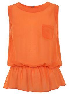Orange Peplum Top by Creative Fashion, via Flickr