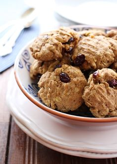 Oatmeal Spelt Cookies (sub coconut sugar for honey, maple syrup, or - if sugar cannot be tolerated - applesauce or a pureed overripe banana; use gluten-free oats)