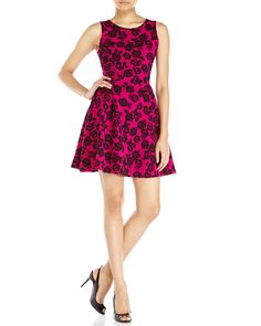 NECESSARY OBJECTS Jacquard Fit & Flare Dress