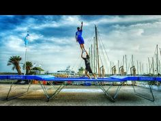 I used to be able to do a front flip on my trampoline but that was about it. This looks like fun! World's Best Trampoline Tricks! in 4k! Eurotramp - YouTube