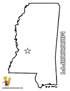 Free Coloring Maps For Kids Free Map Coloring Mississippi At Yes Coloring