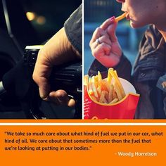 You wouldn't put anything in your car that would cause it to break down and grind to a halt so what do it to your body?  Fast food junk food and other highly processed fare robs your body of nutrients and introduces free radicals that can cause damage at a cellular level. You wind up with a higher risk of heart disease diabetes cancer dementia and more.  Your body is so much more valuable than a car! It's a beautifully designed gift from God and it deserves the best possible fuel: whole…