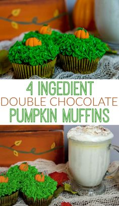 This is a double chocolate pumpkin muffin recipe that I learned from my mom, and it's one of my favorite snacks! Perfect for any fall occasion or no occasion at all! Easy Delicious Recipes, Unique Recipes, Yummy Food, Tasty, Fall Recipes, Snack Recipes, Dessert Recipes, Something Different For Dinner, Chocolate Pumpkin Muffins