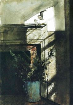 Andrew Wyeth, Bird in the House (. Andrew Wyeth & John Singer Sargent are my two favorite artists . Andrew Wyeth Paintings, Andrew Wyeth Art, Jamie Wyeth, Nc Wyeth, Popular Paintings, Winslow Homer, Oeuvre D'art, American Artists, Les Oeuvres