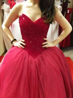 New Arrival Ball Gown Prom Dress,Elegant Sweetheart Red