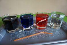 Balonowo-wodne eksperymenty | Kreatywnie w domu Shot Glass, Tableware, Diy, Dinnerware, Bricolage, Dishes, Shot Glasses, Place Settings, Do It Yourself