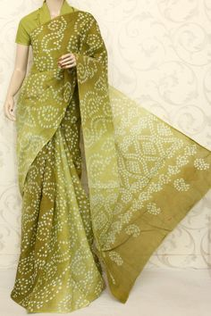 Traditional Bandhani (Tie-n-Die) Printed Cotton Saree (With Blouse ) 12594 , Buy Traditional Bandhani Sarees online, Pure Traditional Bandhani Sarees, Trendy Traditional Bandhani Sarees ,Traditional Collection , online shopping india, sarees , sweets, cameras, shoes, watches, appliances, apparel, sweets online in india | www.maanacreation.com
