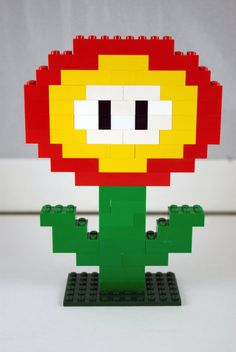Lego Mario Brothers Flower Power Handmade by ArtsySAHD on Etsy