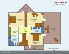 proiecte de casa cu scara interioara Interior staircase house plans 9