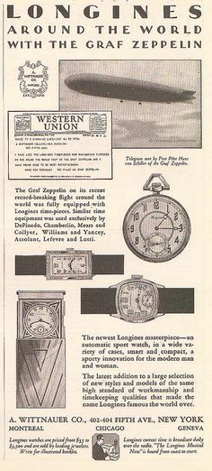 "Longines-Wittnauer ad ""Around the World with the Graf Zeppelin"" by kitchener.lord, via Flickr"