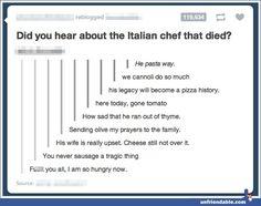 Italian chef - Tumblr - Unfriendable