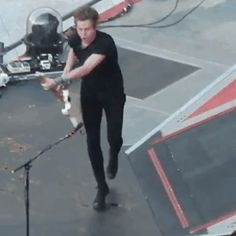 GIF of Luke almost tripping, bless his heart