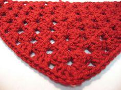 Hooked on Needles: Learn to Crochet - Half Granny Shawl Video Tutorial