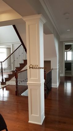 Image Result For Can You Encase Around A Round Interior Column To Make It Square Using Wood