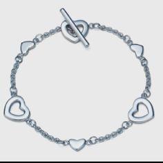 Heart Link Bracelet from Tiffany & Co. Tiffany & Co Tiffany Bracelets, Link Bracelets, Jewelry Accessories, Fashion Accessories, Fashion Jewelry, Tiffany And Co, Heart Bracelet, Bracelet Designs, Wedding Bands