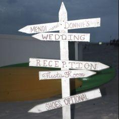 Beach wedding sign  @Christine Rodenbeck Schoenefeld