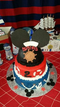 Nautical Mickey Mouse Birthday Party Ideas | Photo 1 of 50